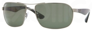 Ray Ban RB3492 Gunmetal with Polarized Crystal Green Lenses