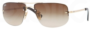 Ray Ban RB3497 Arista Gold with Brown Gradient Lenses