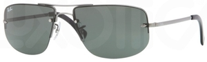 Ray Ban RB3497 Gunmetal with Green Lenses