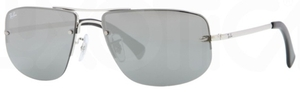 Ray Ban RB3497 Silver with Grey Silver Mirror Lenses