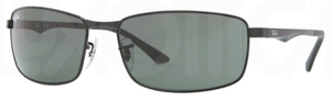 Ray Ban RB3498 Black with Green Lenses