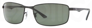 Ray Ban RB3498 Black with Polarized Green Lenses