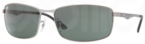 Ray Ban RB3498 Gunmetal with Green Lenses