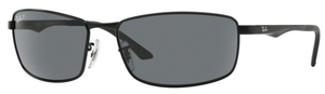 Ray Ban RB3498 Matte Black with Polarized Grey Lenses