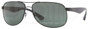 Ray Ban RB3502 Black with Crystal Green Lenses
