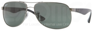 Ray Ban RB3502 Gunmetal with Crystal Green Lenses