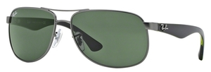 Ray Ban RB3502 Matte Gunmetal with Green Lenses