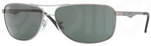 Ray Ban RB3506 Gunmetal with Green Lenses