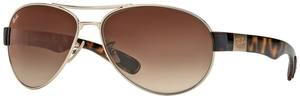 Ray Ban RB3509 Arista Gold with Brown Gradient Lenses