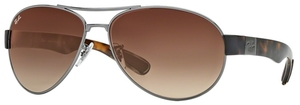 Ray Ban RB3509 Gunmetal with Brown Gradient Lenses