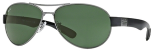 Ray Ban RB3509 Gunmetal with Green Lenses