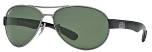 Ray Ban RB3509 Gunmetal with Polarized Green Lenses