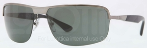 Ray Ban RB3510 Gunmetal with Green Lenses