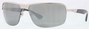 Ray Ban RB3510 Silver with Grey Silver Mirror Lenses