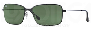 Ray Ban RB3514 Demi Gloss Black/Black with Crystal Green Lenses