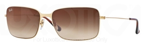 Ray Ban RB3514 Demi Gloss Gold with Brown Gradient lens
