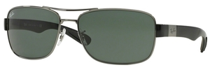 Ray Ban RB3522 Gunmetal with Green Lenses