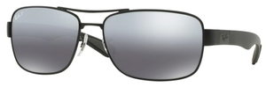 Ray Ban RB3522 Matte Black with Polarized Grey Silver Mirror Lenses