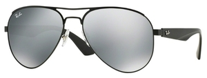 Ray Ban RB3523 Matte Black with Grey Silver Mirror Lenses