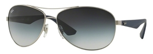 Ray Ban RB3526 Matte Silver with Grey Gradient Lenses