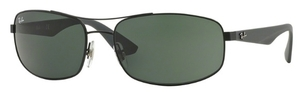 Ray Ban RB3527 Matte Black with Grey Green Lenses