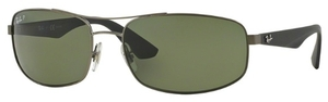 Ray Ban RB3527 Matte Gunmetal with Polarized Dark Green Lenses