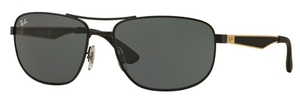 Ray Ban RB3528 Matte Black with Dark Green Lenses
