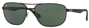 Ray Ban RB3528 Matte Black with Green Lenses