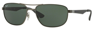 Ray Ban RB3528 Matte Gunmetal with Dark Green Lenses