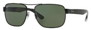 Ray Ban RB3530 Black with Polarized Green Lenses
