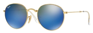 Ray Ban RB3532 Gold with Crystal Green Mirror Blue Lenses
