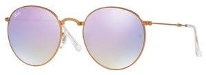 Ray Ban RB3532 Shiny Bronze with Crystal Lilac Flash Gradient Lenses