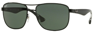 Ray Ban RB3533 Black with Gray Green Lenses