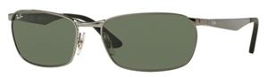 Ray Ban RB3534 Gunmetal w/ Green Lenses