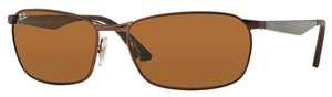 Ray Ban RB3534 Matte Brown with Brown Lenses