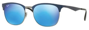 Ray Ban RB3538 Top Blue on Gunmetal with Green Mirror Blue Lenses