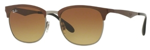 Ray Ban RB3538 Top Brown on Gunmetal with Light Brown Gradient Brown Lenses