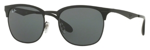 Ray Ban RB3538 Top Matte Black on Shiny Black with Dark Green Lenses