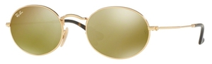 Ray Ban RB3547N OVAL Gold with Gold Flash Lenses