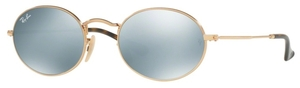 Ray Ban RB3547N OVAL Gold with Grey Flash Lenses