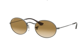 Ray Ban RB3547N OVAL Gunmetal with Crystal Brown Gradient Lenses