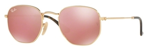 Ray Ban RB3548N HEXAGONAL Gold with Copper Flash Lenses