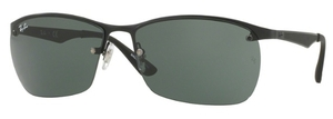 Ray Ban RB3550 Matte Black with Green Lenses