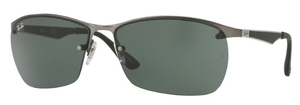 Ray Ban RB3550 Matte Gunmetal with Green Lenses
