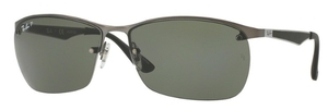 Ray Ban RB3550 Matte Gunmetal with Polarized Green Lenses