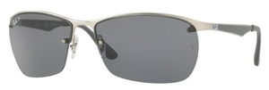 Ray Ban RB3550 Matte Silver with Polarized grey Lenses