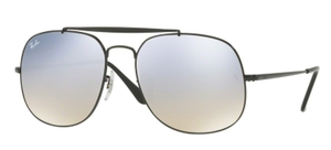 Ray Ban RB3561 GENERAL Black with Gradient Brown Mirror Silver Lenses