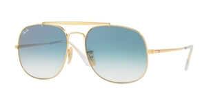 Ray Ban RB3561 GENERAL Gold with Blue Gradient Lenses