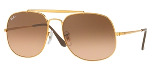 Ray Ban RB3561 GENERAL Light Bronze with Pink Gradient Brown Lenses