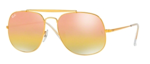 Ray Ban RB3561 GENERAL Light Bronze with Pink Gradient Mirror Lenses